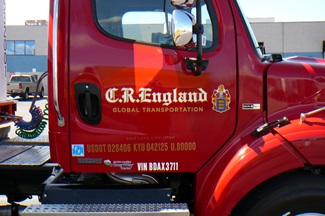 C.R. England Semi Truck Graphic Wrap