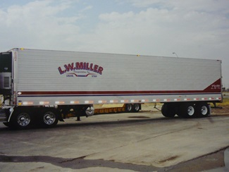 L.W. Miller Printed Logo on Truck