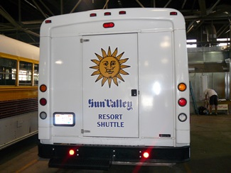 Shuttle Van Graphics