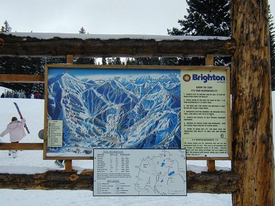Printed Ski Trail Map for Brighton