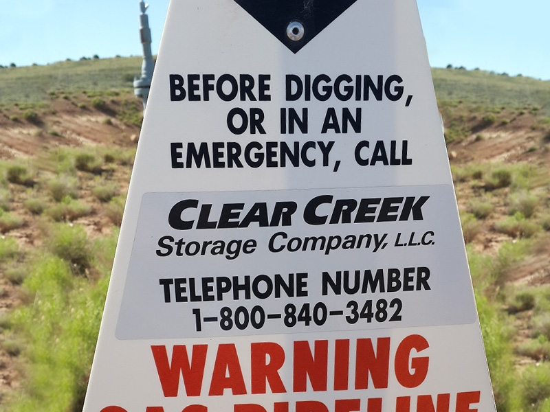 Sign for Clear Creek Storage Company