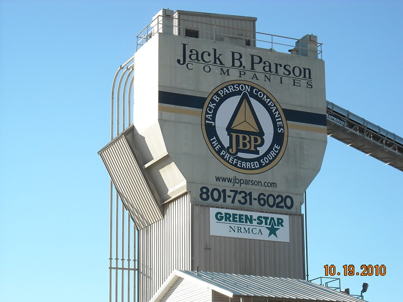 Jack B. Parsons Companies Graphic on Building