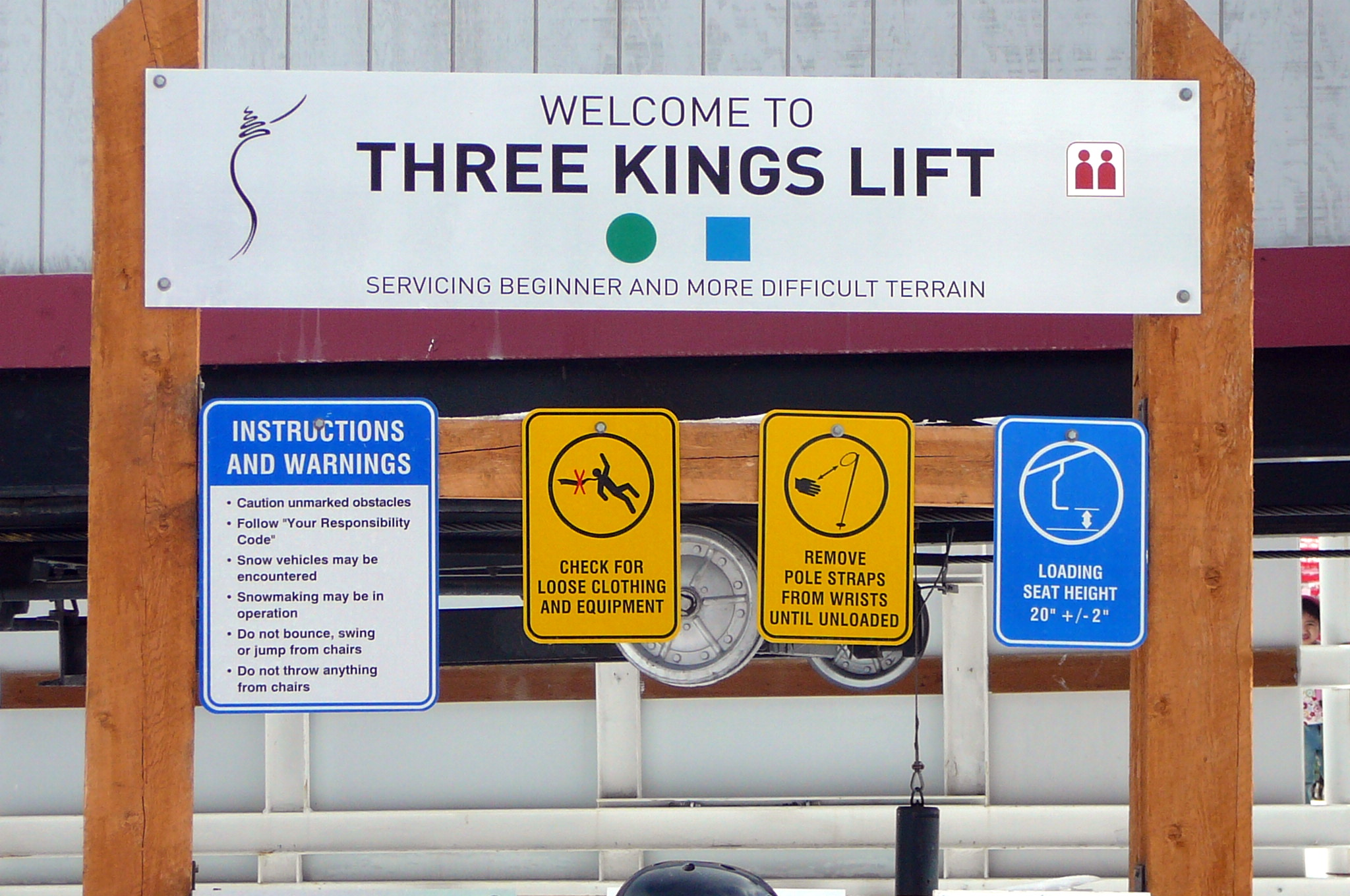 Three Kings Lift Printed Sign