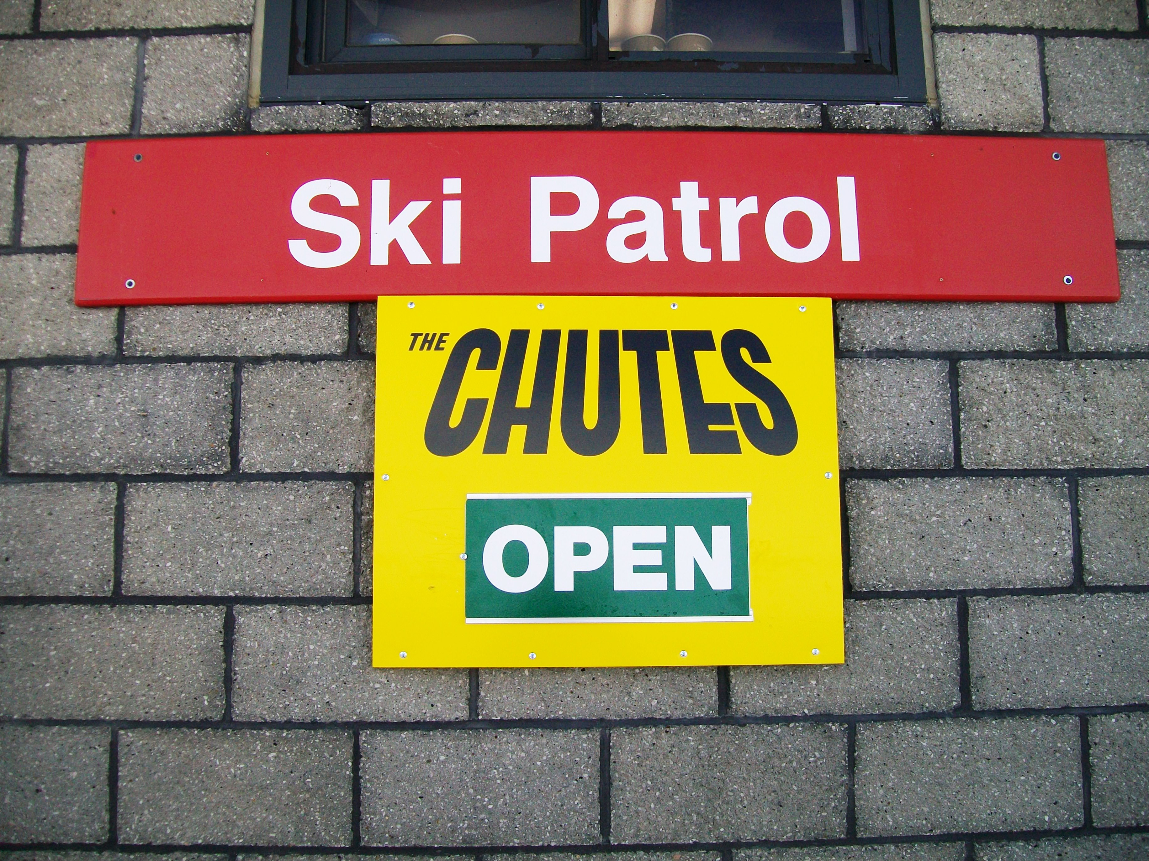 Ski Patrol Printed Sign for Chutes