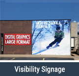 Visibility Signage With Skier