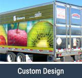 Semi Truck With Printed Wrap Advertisement