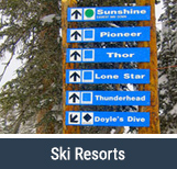 Ski Resort Directional Signs